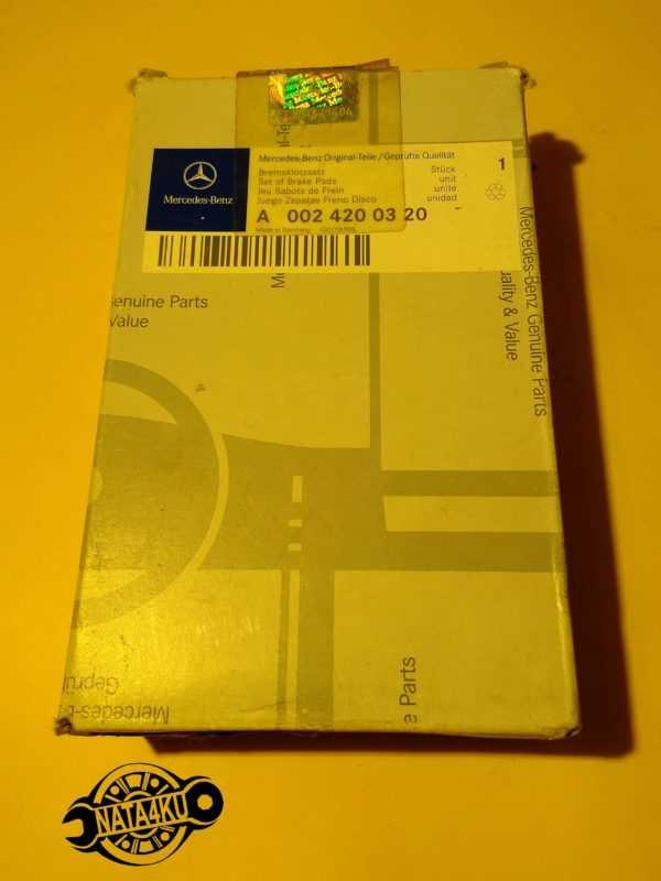 Колодки тормозные переднии дисковые Mercedes w140 1991 - 1998 A0024200320 Mercedes