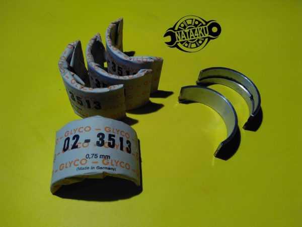 Вкладыши коренные 0.75mm Mercedes m102 w124/w202/w460 H977/05 Glyco