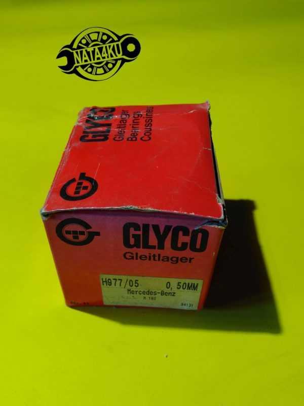 Вкладыши коренные 0.5mm Mercedes m102 w124/w201/w123 H977/05 Glyco