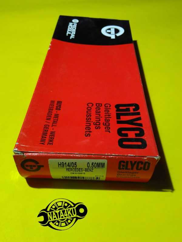 Вкладыши коренные 0.5mm Mercedes om615-616 w115/w123/o309 /601 H914/05 Glyco